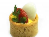 Boiled Quails Egg Roasted Tomatoes Lemon Sabayon