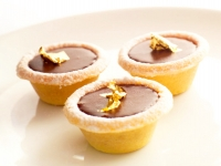 Chocolate Gold Leaf Tartlets