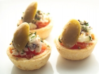 Cod Fish Tartlet with Green Olives