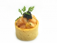 Cured Salmon Tartare with Orange and Smoked
