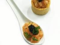 Cured Salmon Tartare with Orange and Smoked Caviar
