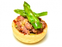 Duck Tartellette with Green Asparagus