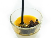 Panna Cotta Mango Coulis in Shooter Glass