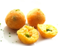 Saffron Rice Croquette with Green Peas