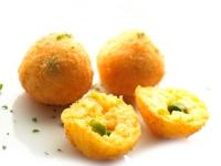Saffron Rice Croquette with Green Peas