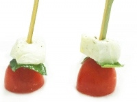Skewer of Italian Buffalo Mozzarella Tomato Basil