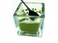 Spinach Mousse with Cheese Fondue