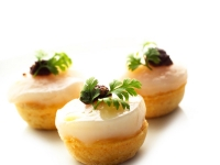 Tartlet of Scallop Black Olive Trapenade