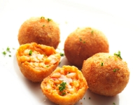 Tomato Rice Croquette with Mozzarella