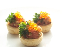 Tuna Tartlet with Salmon Caviar