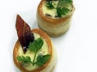 vVol au Vent Carbonara with Crispy Pork-Ham