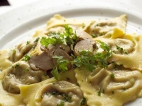 Veal Ravioli with Porcini Mushrooms Cream