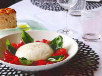 Artisanal Burrata Cheese with San Marzano Tomatoes and Basil