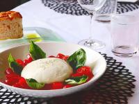 Artisanal Burrata Cheese with San Marzano Tomatoes and Basil