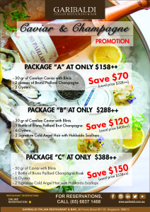 Gairbaldi Caviar & Champagne Promo